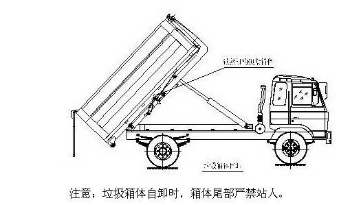 拉臂式垃圾车 车厢可卸式垃圾车使用方法说明