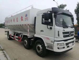 国五陕汽轩德小三轴30散装饲料运输车
